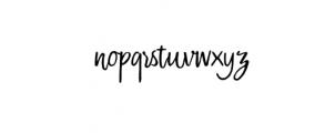 Sweet Saturday Script.otf Font LOWERCASE