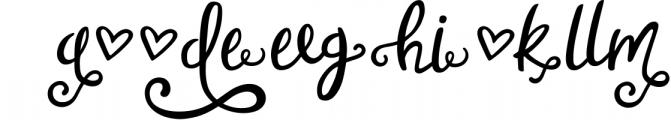 Sweet Nothings Script + Bonus Font! Font UPPERCASE