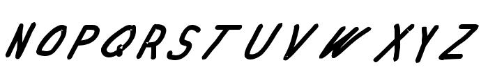 Swabby Bold Italic Font UPPERCASE
