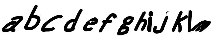 Swabby Bold Italic Font LOWERCASE