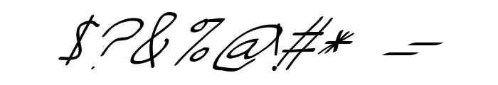 Swabby Condensed Regular Italic Font OTHER CHARS