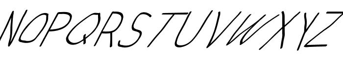 Swabby Condensed Regular Italic Font UPPERCASE