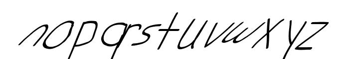 Swabby Condensed Regular Italic Font LOWERCASE