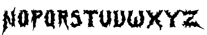 SwampTerror Font UPPERCASE