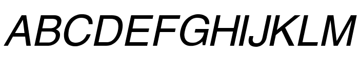 Swansea Italic Font UPPERCASE
