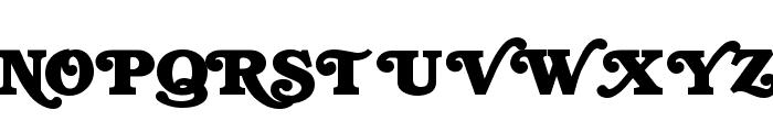 Swash  Normal Font UPPERCASE