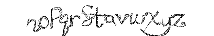 SweatyParty Font LOWERCASE