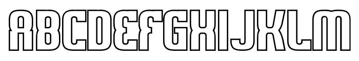 Sweden Funkis Outlined Font UPPERCASE