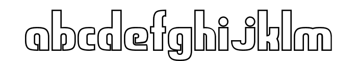 Sweden Funkis Outlined Font LOWERCASE