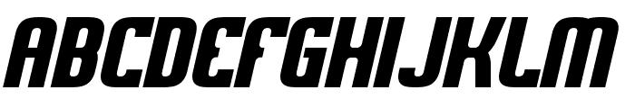 Sweden Funkis StraightOblique Font UPPERCASE