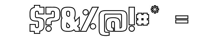 Sweden Funkis StraightOutlined Font OTHER CHARS