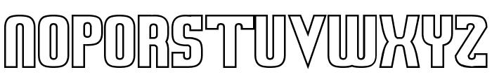Sweden Funkis StraightOutlined Font UPPERCASE