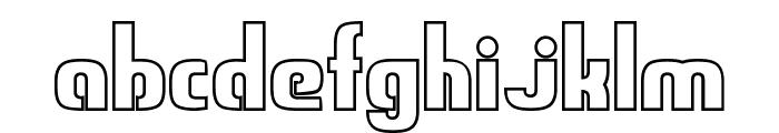 Sweden Funkis StraightOutlined Font LOWERCASE