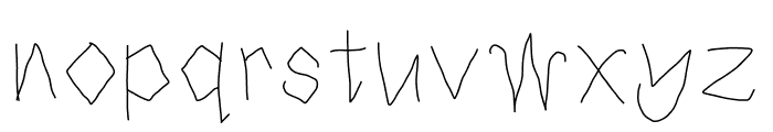 Sweet Candy Trees Font LOWERCASE