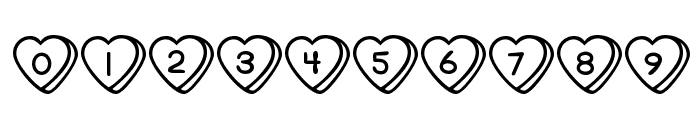 Sweet Hearts Font OTHER CHARS