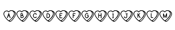 Sweet Hearts Font UPPERCASE