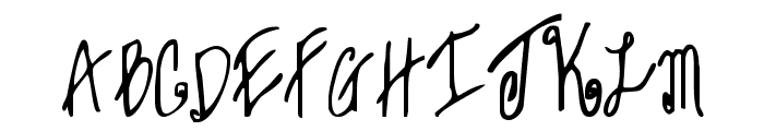 Sweet Janet Font UPPERCASE