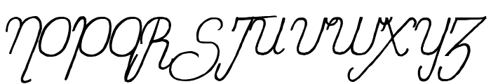Sweet Lady Italic Font UPPERCASE