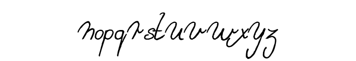 Sweet Lady Italic Font LOWERCASE
