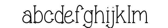 Sweet & sassy serif Font LOWERCASE