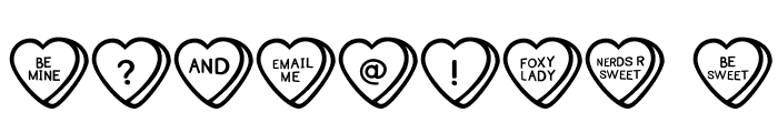 SweetHeartsOT Font OTHER CHARS