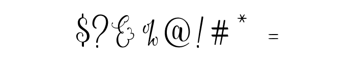 Sweetgentle Font OTHER CHARS