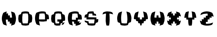 Swelled Computer Font UPPERCASE