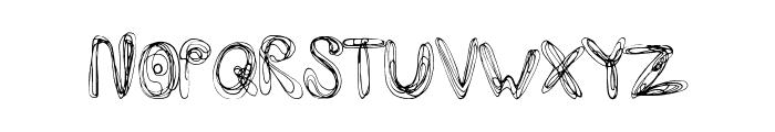 SwirlInsertion Font LOWERCASE