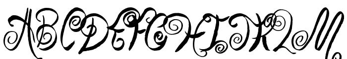 Swirly Shirley Font UPPERCASE