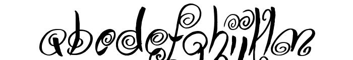 Swirly Shirley Font LOWERCASE