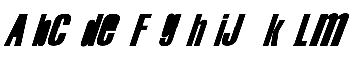 Swis AntiNormal Condensed Normal Font UPPERCASE