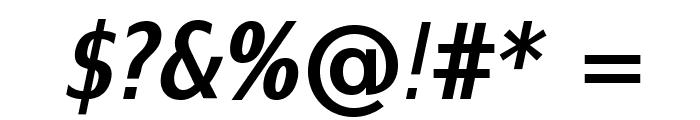 SwitzeraADF-BoldCondItalic Font OTHER CHARS
