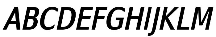 SwitzeraADF-BoldCondItalic Font UPPERCASE
