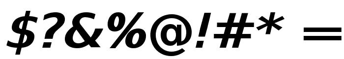 SwitzeraADF-BoldExtItalic Font OTHER CHARS