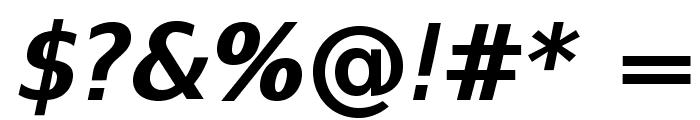 SwitzeraADF-BoldItalic Font OTHER CHARS