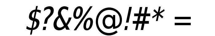 SwitzeraADF-CondItalic Font OTHER CHARS
