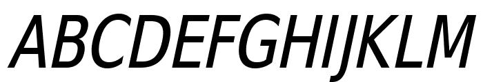 SwitzeraADF-CondItalic Font UPPERCASE