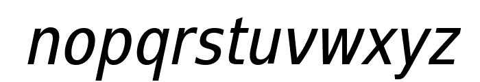 SwitzeraADF-CondItalic Font LOWERCASE