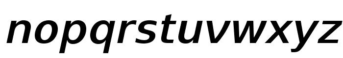 SwitzeraADF-DemiBoldItalic Font LOWERCASE