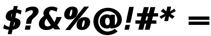 SwitzeraADF-ExtraBoldItalic Font OTHER CHARS