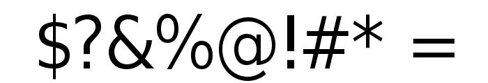 SwitzeraADF-Light Font OTHER CHARS