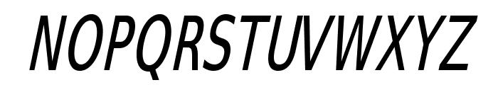 SwitzeraADF-LightCondItalic Font UPPERCASE