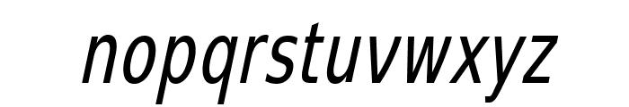 SwitzeraADF-LightCondItalic Font LOWERCASE