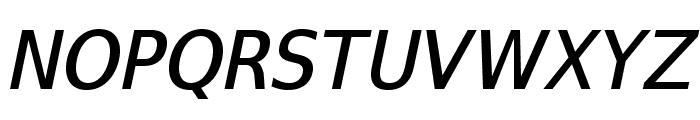 SwitzeraADF-MediumItalic Font UPPERCASE