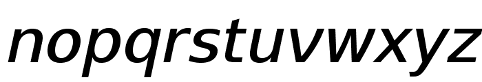 SwitzeraADF-MediumItalic Font LOWERCASE