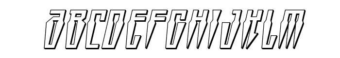Swordtooth 3D Italic Font UPPERCASE