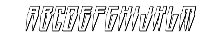 Swordtooth 3D Italic Font LOWERCASE