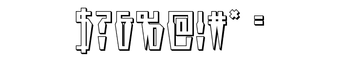 Swordtooth 3D Font OTHER CHARS