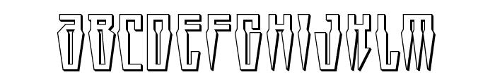 Swordtooth 3D Font UPPERCASE
