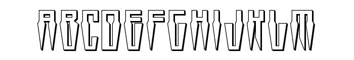 Swordtooth 3D Font LOWERCASE